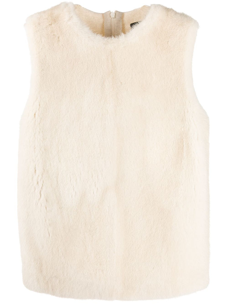 DSQUARED fur panel tank top