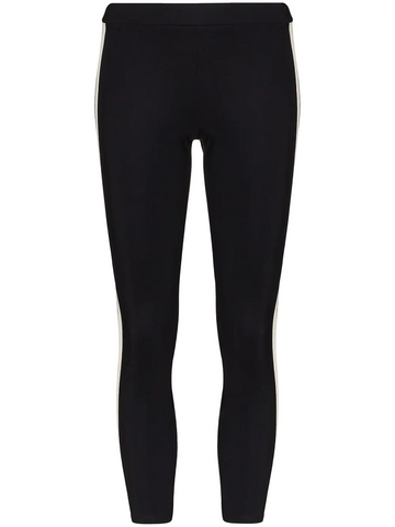 MONCLER cropped striped leggings