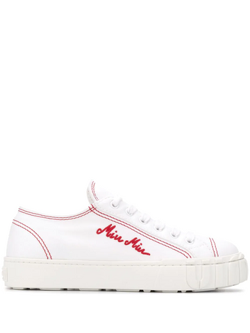 MIU MIU logo-embroidered sneakers