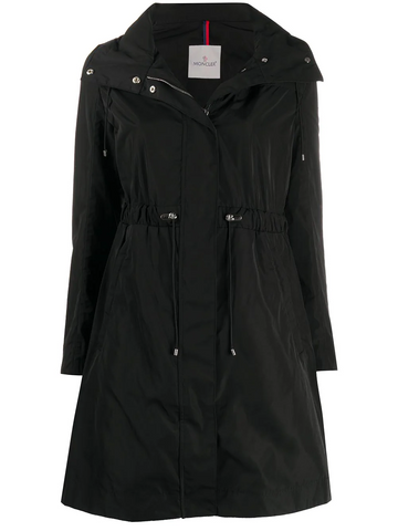 MONCLER funnel-neck drawstring-waist coat