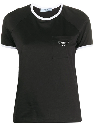 PRADA logo plaque short-sleeved T-shirt