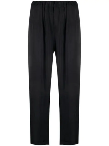 PAROSH gathered waist trousers