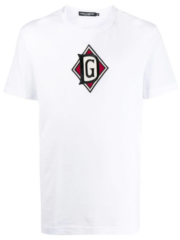 DOLCE&GABBANA logo-embroidered T-shirt