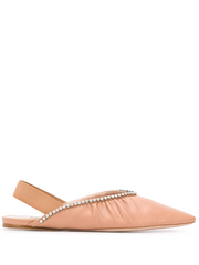 MIU MIU embellished ballerina shoes