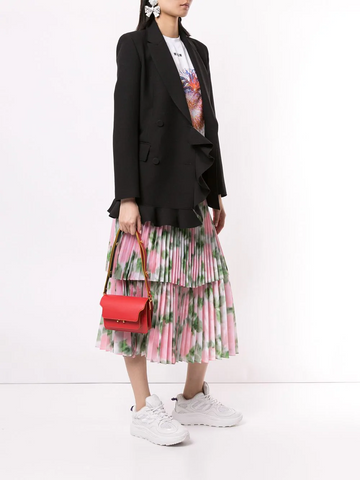 MSGM ruffle double-breasted blazer