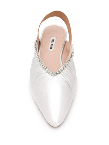 MIU MIU slingback leather ballerina shoes