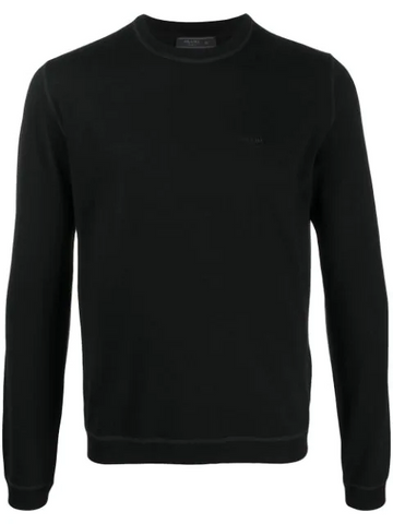PRADA logo embroidered jumper