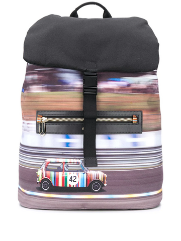 PAUL SMITH car print backpack