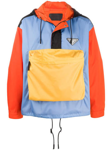 PRADA colour block nylon jacket