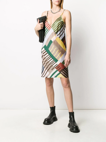 RICK OWENS  Uxmal print slip dress