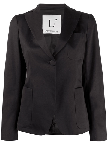 L'AUTRE CHOSE one button fitted blazer