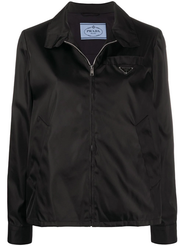 PRADA triangular patch zipped jacket