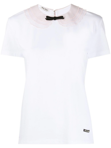 MIU MIU bow detail T-shirt