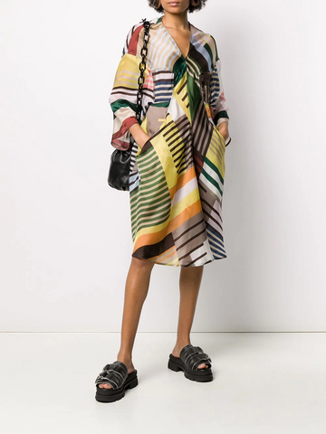 RICK OWENS striped tunic dress