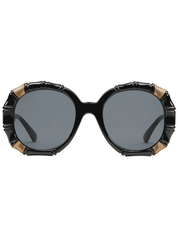 GUCCI Bamboo round-frame sunglasses