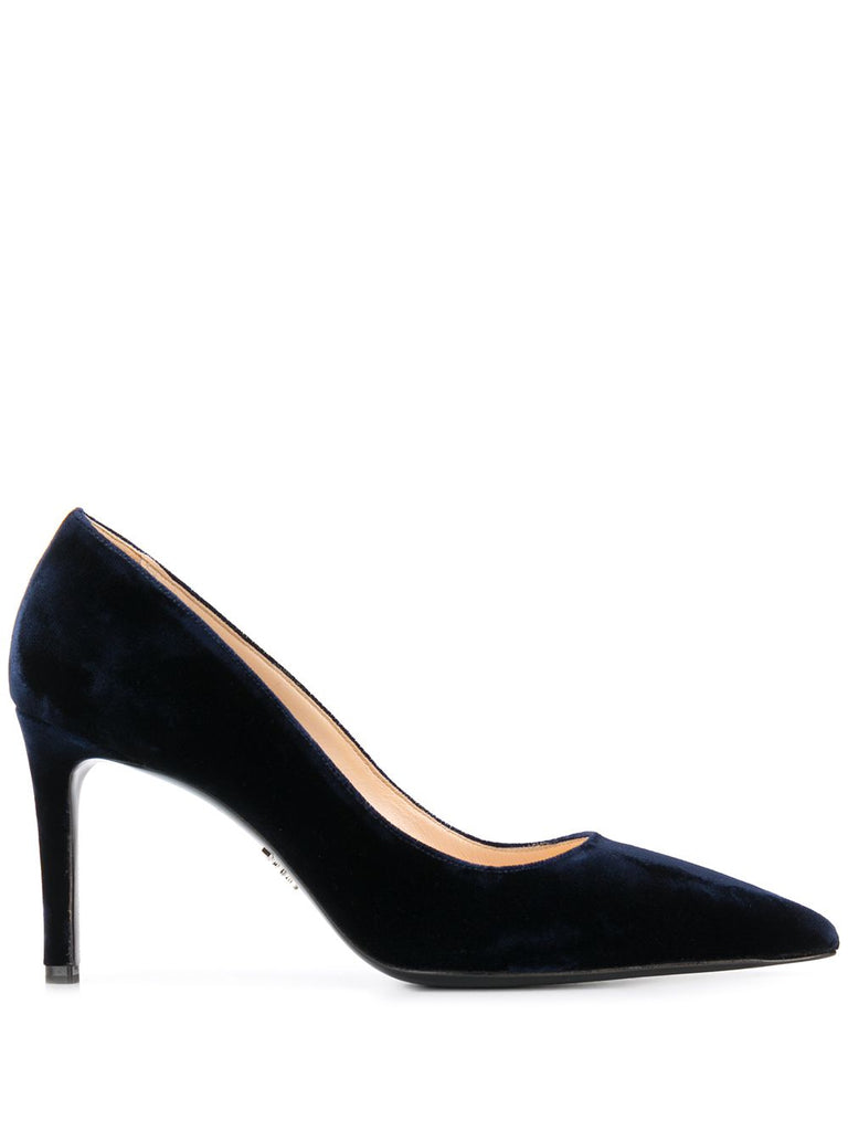 PRADA velvet pointed toe pumps