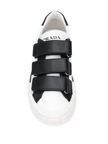 PRADA touch-strap low-top sneakers