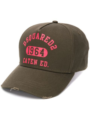 DSQAURED2 logo embroidered cap