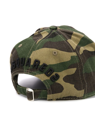 DSQAURED2 logo camouflage print cap