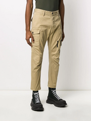 DSQUARED2 logo-print cropped cargo trousers