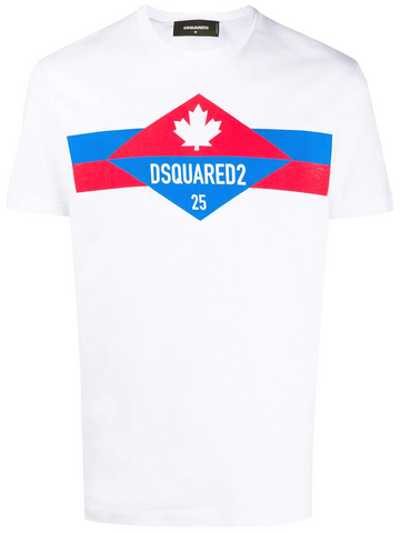 DSQUARED2 logo stripe print T-shirt