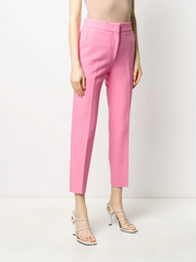 MSGM high-rise cropped cigarette trousers