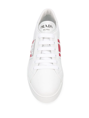 PRADA patch-effect logo low-top sneakers