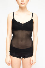 LA Rose lace bra black