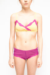LA Rose lace bra yellow+fuxia