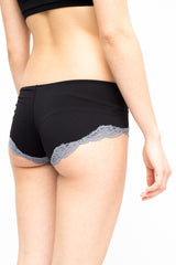 LA Rose lycra culotte black + grey