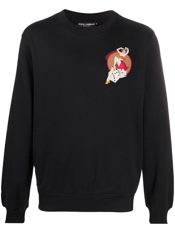 DOLCE&GABBANA pin-up detail sweatshirt