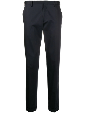PAUL SMITH .flat front slim-fit trousers