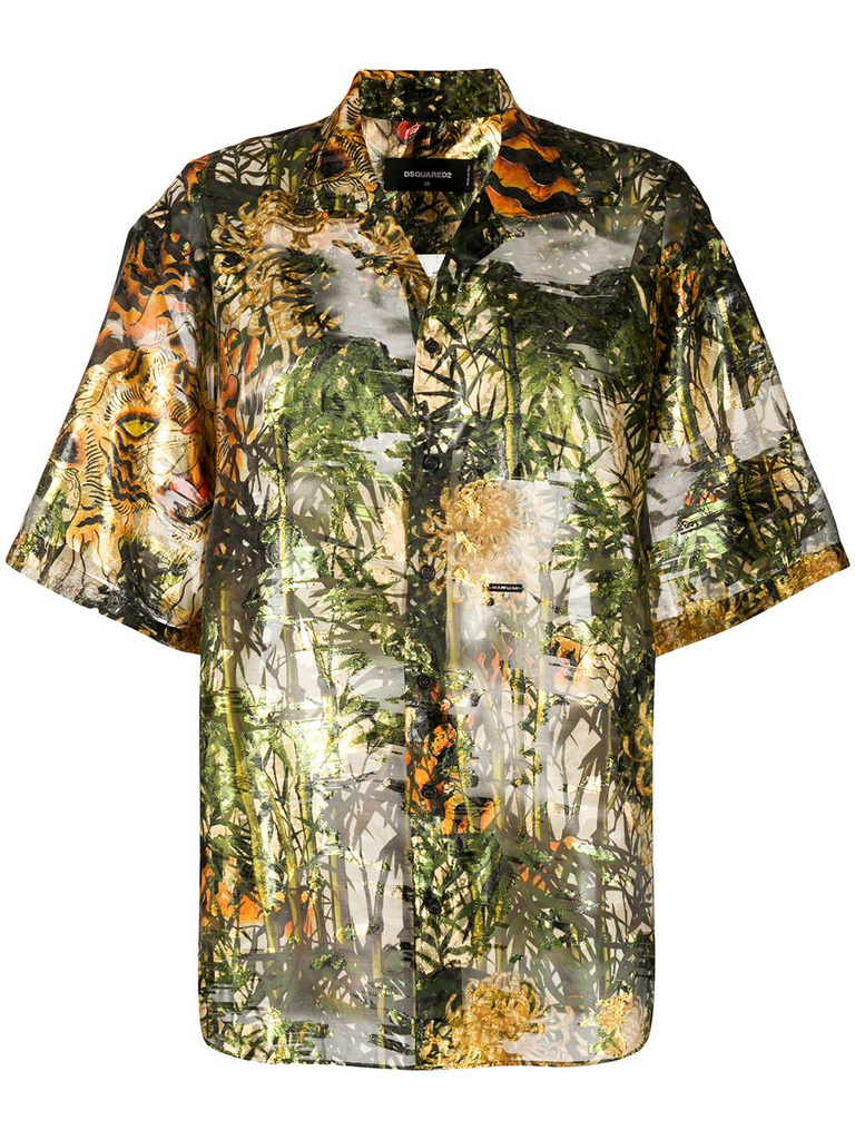DSQUARED2 printed bowling shirt