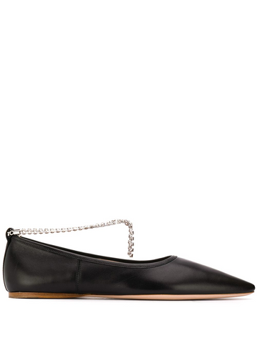 MIU MIU crystal embellished ballerina shoes