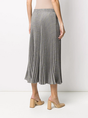 MIU MIU Prince of Wales pleated midi skirt