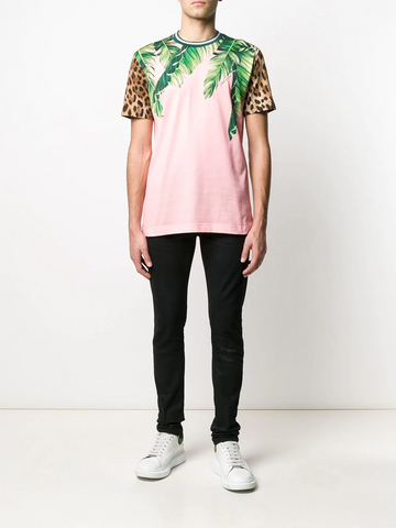 DOLCE&GABBANA tropical animal print T-shirt