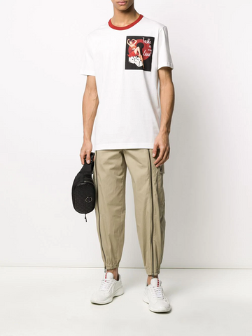 DOLCE&GABBANA pin-up print patch T-shirt
