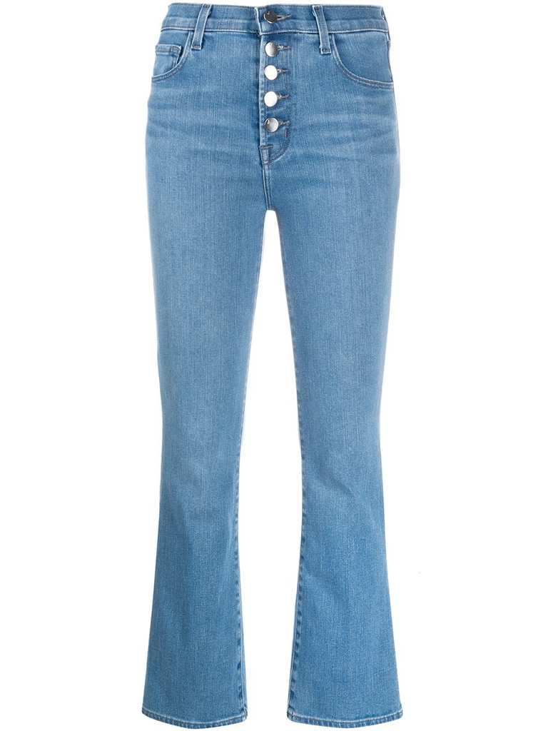 J BRAND cropped bell leg jeans