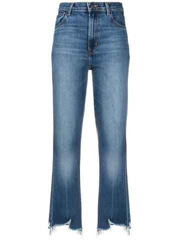 J BRAND frayed cropped jeans