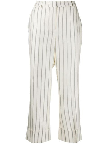 L'AUTRECHOSE cropped striped print trousers