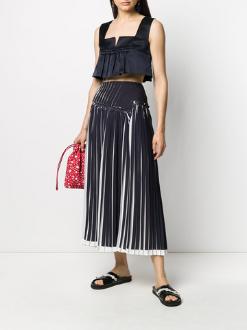 MIU MIU cropped pleated top