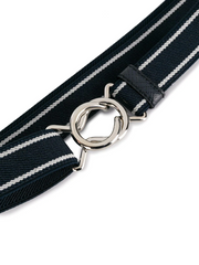 PRADA Belt elast colour navy+white