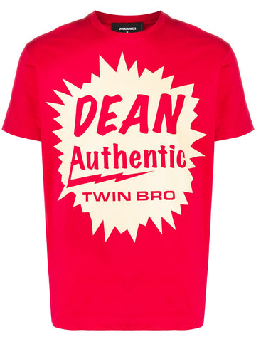 DSQUARED Dean Authentic print T-shirt