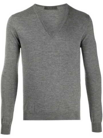 PRADA ribbed V-neck jumper