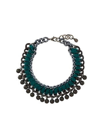 PAROSH embellished chain necklace