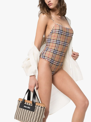 BURBERRY Vintage Check pattern swimsuit