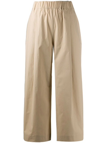 PAROSH elasticated cropped trousers