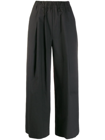 PAROSH straight leg cropped trousers