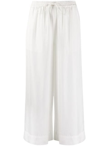 PAROSH cropped wide leg trousers
