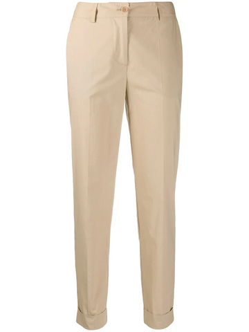 PAROSH cropped slim-fit trousers
